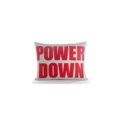Modern Lexicon Power Down Throw Pillow Color: Charcoal Felt/White