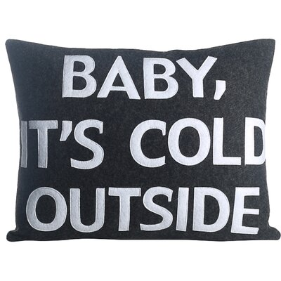 Baby, Its Cold Outside Eco-Friendly Lumbar Pillow