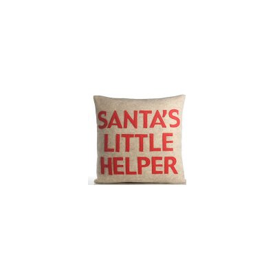 Holiday Santas Little Helper Throw Pillow Color: Oatmeal Felt / Red