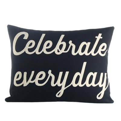 Celebrate Everyday Throw Pillow Color: Navy / White
