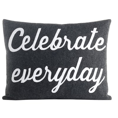 Celebrate Everyday Throw Pillow Color: Charcoal / White