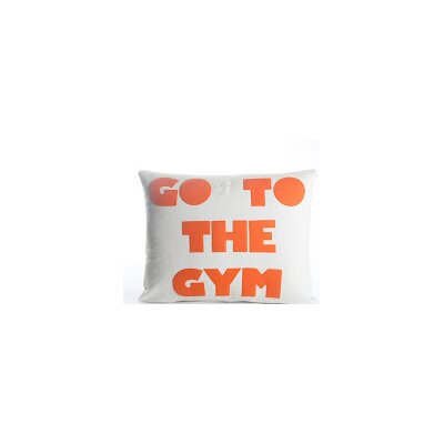 Go To The Gym Throw Pillow Color: Cream Canvas/Orange
