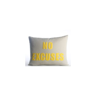 Go To The Gym No Excuses Throw Pillow Color: Stone Canvas/Yellow