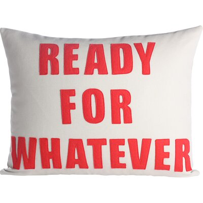 Zen Master Ready for Whatever Throw Pillow Color: Stone Canvas / Red