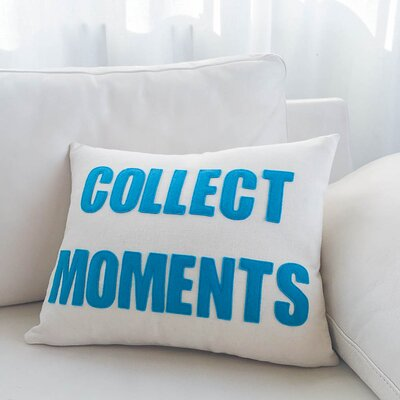Collect Moments Canvas Lumbar Pillow Color: Cream / Black