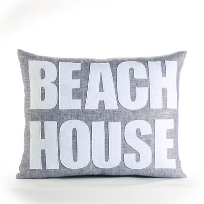 Space Defined Beach House Throw Pillow Color: French Blue / White