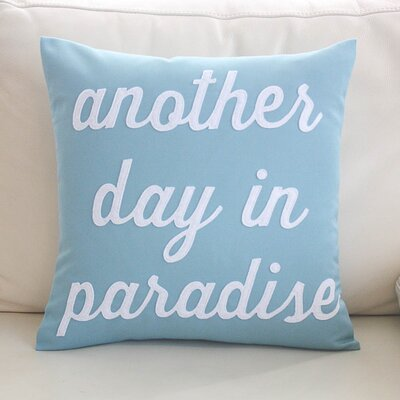 Another Day in Paradise Outdoor Sunbrella Throw Pillow Color: Porcelain / Fuchsia