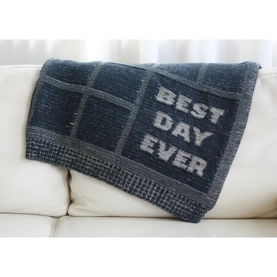 Best Day Ever Throw Blanket Color: Charcoal