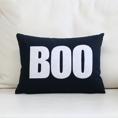 Boo Canvas Lumbar Pillow