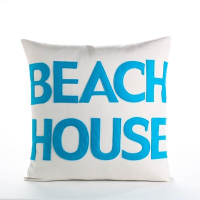 Beach House Outdoor Throw Pillow Color: Porcelain / Turquoise
