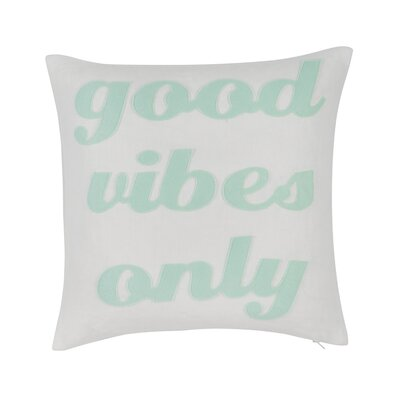 Good Vibes Only Throw Pillow Color: Cream/Mint