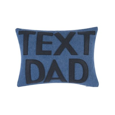 Text Dad Throw Pillow