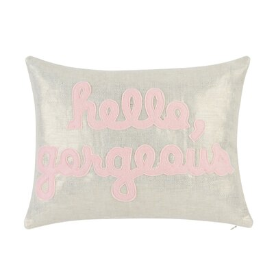 Hello, Gorgeous Throw Pillow
