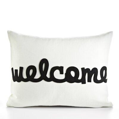 Celebrate Everyday Welcome Throw Pillow Color: Cream & Black Hemp & Organic Cotton