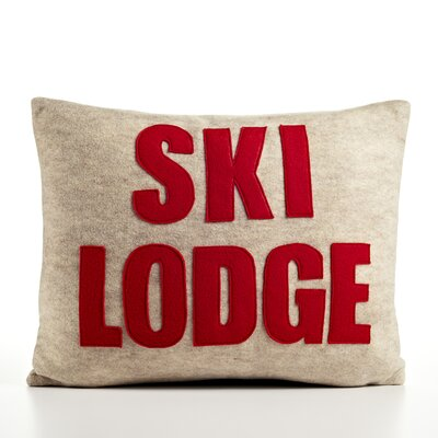 Weekend Getaway Ski Lodge Lumbar Pillow Color: Oatmeal & Red Felt