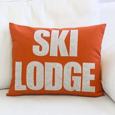 Weekend Getaway Ski Lodge Lumbar Pillow Color: Pumpkin / Oatmeal