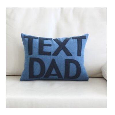 Text Dad Throw Pillow