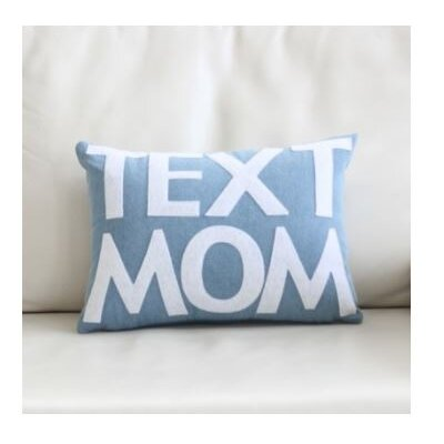 Text Mom Throw Pillow