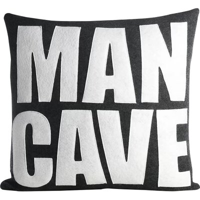By Definition Man Cave Throw Pillow Color: Charcoal / White