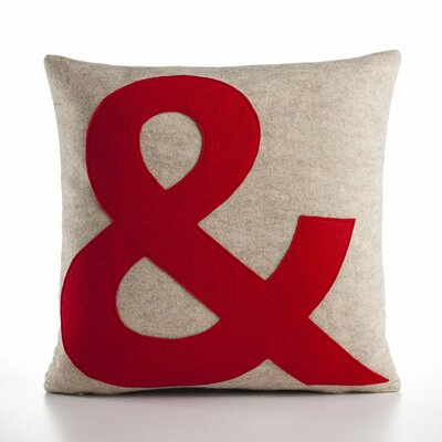 "alexandra ferguson ""&"" Decorative Pillow - Material: Oatmeal & Red Felt, Size: 16"" W x 16"" D at Sears.com"