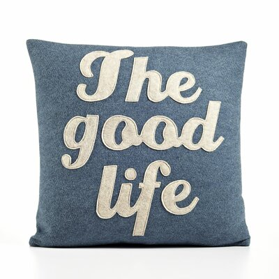 "alexandra ferguson ""The Good Life"" Decorative Pillow - Size: 16"" W x 16"" D, Material: Oatmeal & Charcoal Felt at Sears.com"