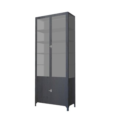 Vitrine 2 Door China Cabinet Color: Black