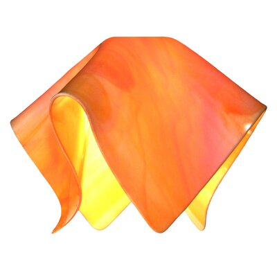 Radiance 11 Glass Novelty Pendant Shade Color: Tangerine Orange