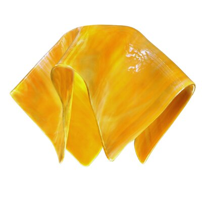 Radiance 11 Glass Novelty Pendant Shade Color: Amber Gold Yellow