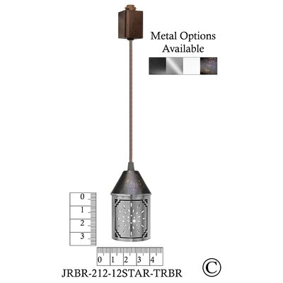 Illuminart Star 1-Light Mini Pendant Finish: Brown