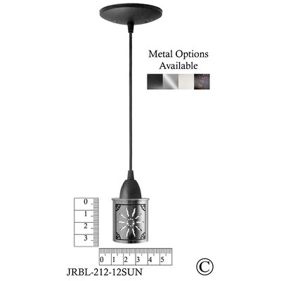 Illuminart Sun 1-Light Mini Pendant Finish: Black