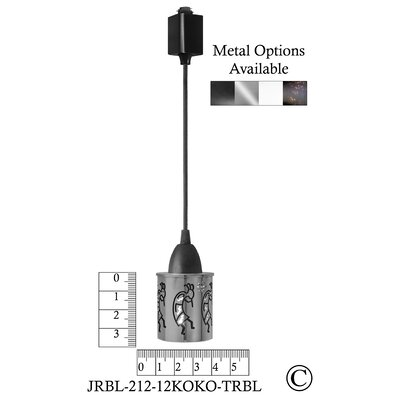 Illuminart Kokopelli 1-Light Mini Pendant Finish: Black