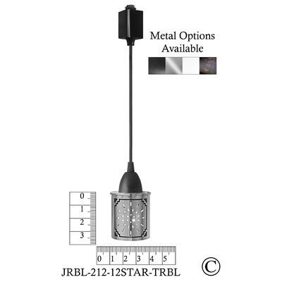 Illuminart Star 1-Light Mini Pendant Finish: Black