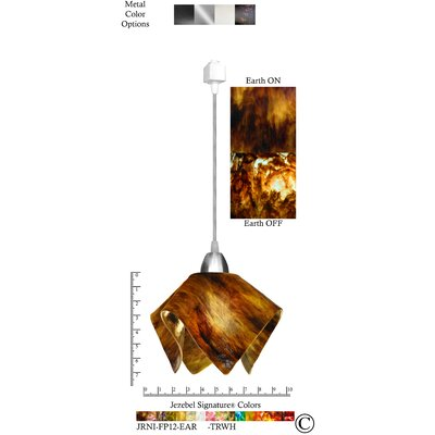 Signature� Flame 1-Light Bowl Pendant Finish: Nickel, Shade Color: Earth, Size: Large