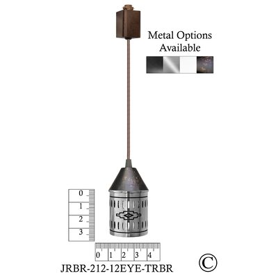 Illuminart Gods Eye 1-Light Mini Pendant Finish: Brown
