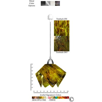Signature� Flame 1-Light Bowl Pendant Size: Small, Shade Color: Treebark, Finish: Nickel