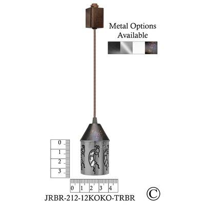 Illuminart Kokopelli 1-Light Mini Pendant Finish: Brown