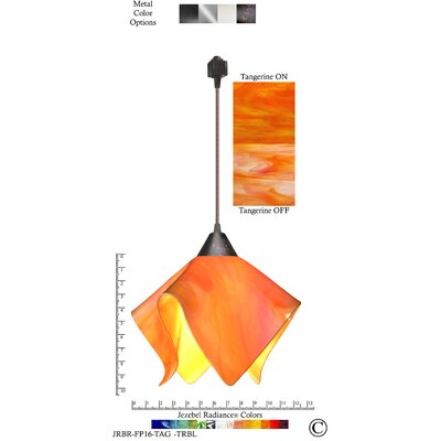 Radiance� Flame 1-Light Bowl Pendant Shade Color: Tangerine, Size: Small