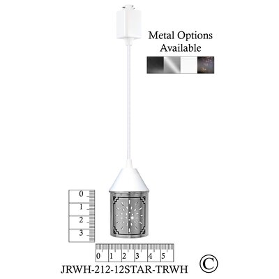 Illuminart Star 1-Light Mini Pendant Finish: White