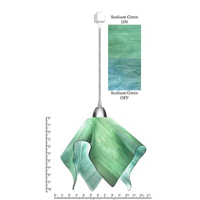 Radiance� Flame 1-Light Mini Pendant Size: Small, Shade Color: Seafoam Green