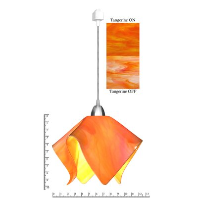 Radiance� Flame 1-Light Mini Pendant Shade Color: Tangerine, Size: Small