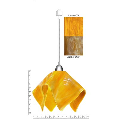 Radiance� Flame 1-Light Mini Pendant Shade Color: Amber, Size: Large