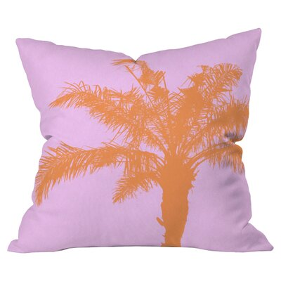 Deb Haugen Palm Outdoor Throw Pillow Size: 18 H x 18 W x 5 D