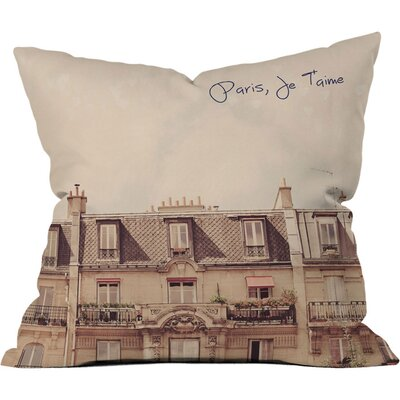 Happee Monkee Paris Je T'aime Outdoor Throw Pillow