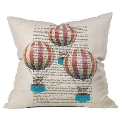 Coco de Paris Air Balloons Outdoor Throw Pillow