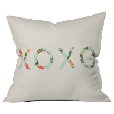 Allyson Johnson Floral XOXO Outdoor Throw Pillow