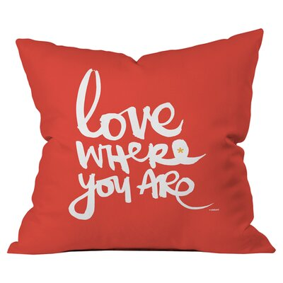 Kal Barteski Love Outdoor Throw Pillow