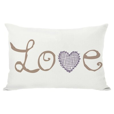 Love Crosshatch Lumbar Pillow