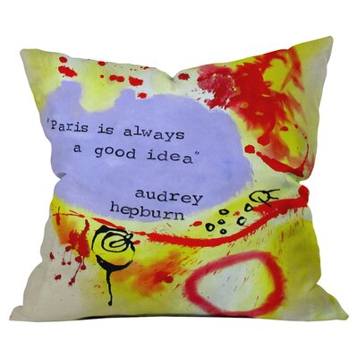 Deb Haugen Paris 1 Outdoor Throw Pillow