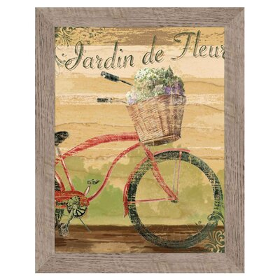 Jardin De Fleurs Framed Giclee Drawing Print 6-3584