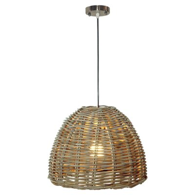 Kubo Rattan 1-Light Inverted Pendant
